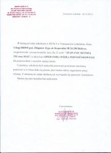 Rekomendacja Zespołu Szkół Nr 4 w Tomaszowie Lubelskim