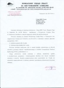 Referencje - Powiatowy Urząd Pracy w Tomaszowie Lubelskim