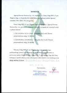 Referencje Agencja Rozwoju Roztocza Sp. z o.o.